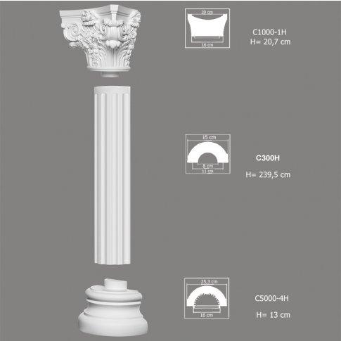 kolumna ozdobna c3000h 1 mardomdecor