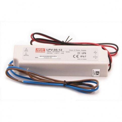 Zasilacz LED MEAN WELL 12V 36W wodoodporny IP67