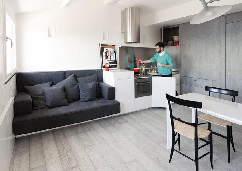 Jak Urządzić Salon Z Aneksem Kuchennym 20m2 Nowoczesne Projekty
