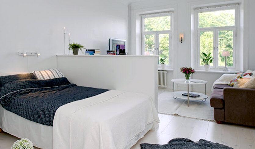 Salon Z Sypialnią Na Małej Powierzchni W Bloku Aranżacje 2w1