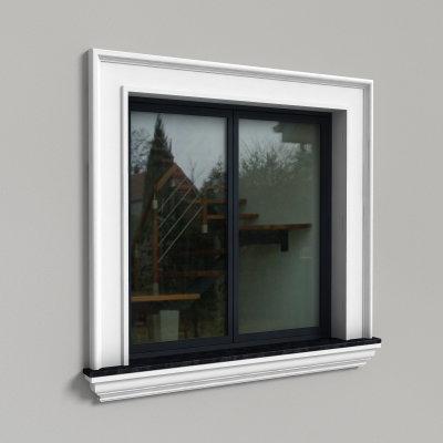 Okno z listwą przyokienną LE-17
